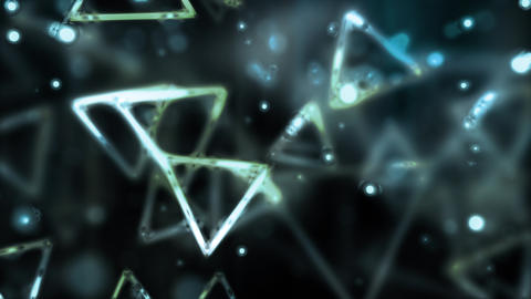 Cool Glassy Triangles Flow Animation