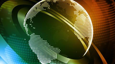 Global News Abstract Rings Videos animados