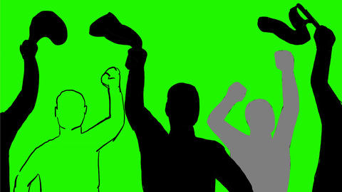 Sports Fan Waving Towel Drawing 2D Animation Animation