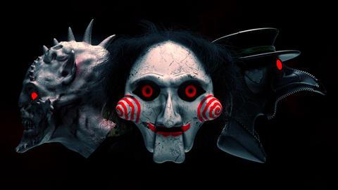 Scary Masks VJ Loop Animation