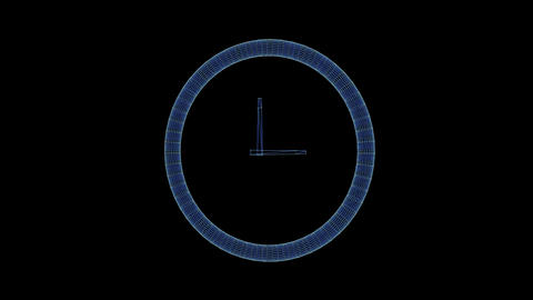 Hologram of a rotating mechanical clock Live Action
