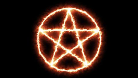 Pentacle Icon Burning Animation