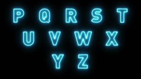 4k Neon Light Alphabet Letters Pack Stock Video Footage