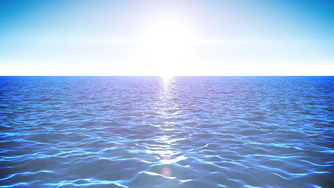 4k Ocean Horizon Background Loop Animation