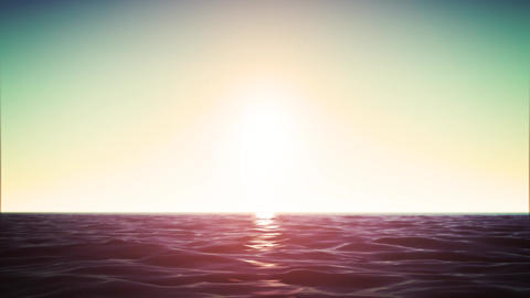 4k Ocean Horizon Background Loop Animation