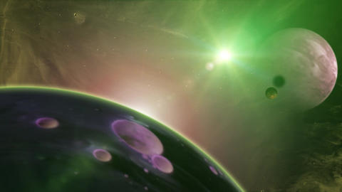 HD Fantasy Nebula Space Background Animation