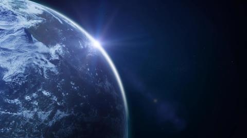 Beautiful HD Earth Planet Rotation Loop Animation