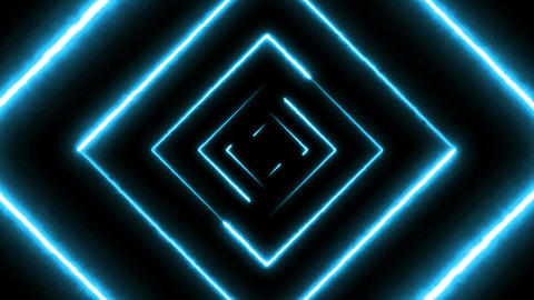 Abstract Digital Background Neon Maze Seamless Loop Animation