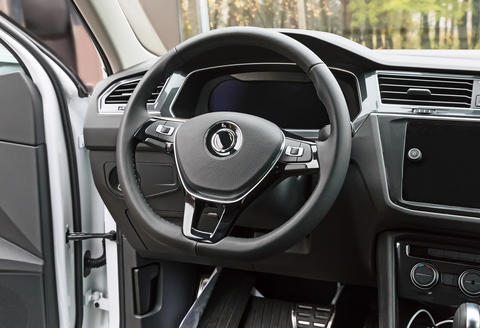 A fragment of the interior of a modern car Photo