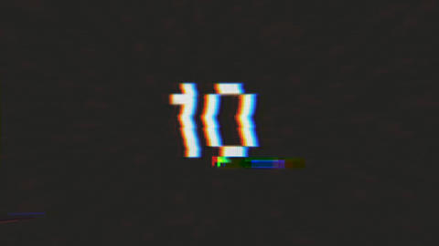 4k Countdown From 10 To 0 With Glitch Effect Animation