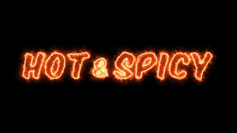 4k Hot And Spicy Restaurant Advertisement Animation
