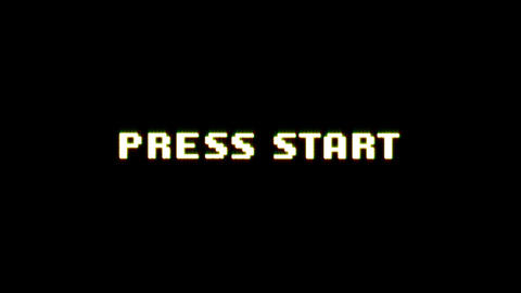 Press Start Game Ui Screen With Bad Glitch Effect Animation