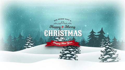 HD Merry Christmas Holidays Background Animation