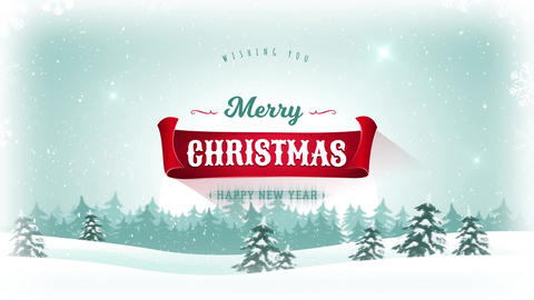 Merry Christmas & Happy New Year Background Animation