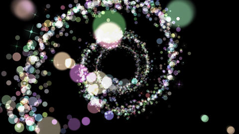 [alt video] Glitter particle - circle motion (with alpha)