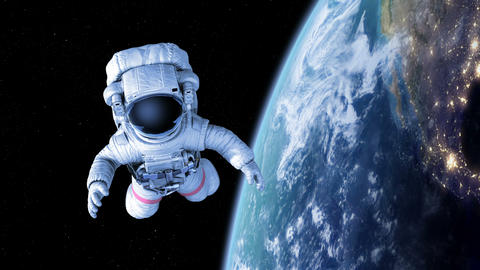 Spaceman in Space Animation