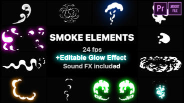 2D FX Smoke Elements Motion Graphics Template