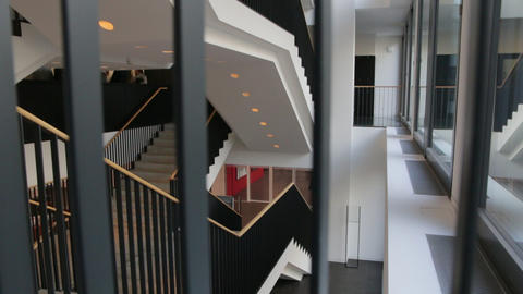 Stairs Handrails In The Building Footage