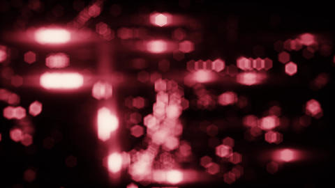 Red Blurred City Night Lights Loopable Motion Background Animation