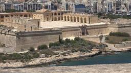 Malta Valletta Fort Manoel on the island seen from opposite side Footage