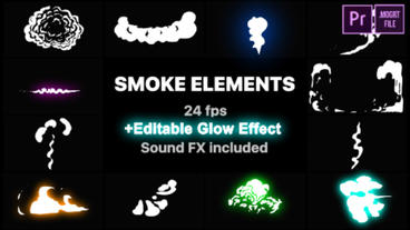Cartoon Smoke Elements Motion Graphics Template