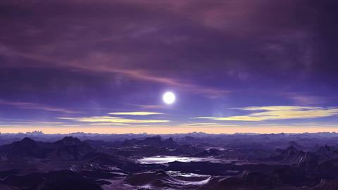 Alien Moonrise Animation
