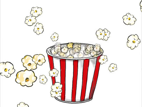 Popcorn Popping Drawing Color 2D Animation Animation