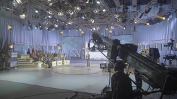 Time lapse the recording of TV broadcast in the TV Studio Footage