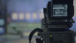 TV camera before the start of the live broadcast in the Studio Footage