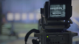 TV camera in a TV Studio (close-up) Footage