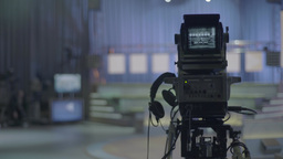 TV equipment in the TV Studio Footage
