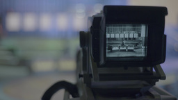 Close-up TV camera in the Studio Footage