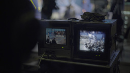 Monitor Director during a TV broadcast Footage