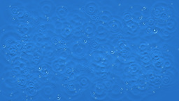 Animated raindrops hitting water Footage