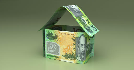 Real Estate with Australian Dollar Animation