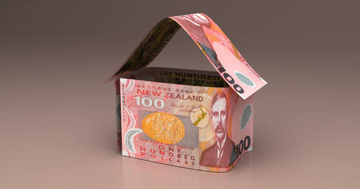 Real Estate with New Zealand Dollar Animation