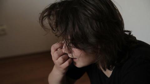 Teenage girl crying mentally upset Live Action