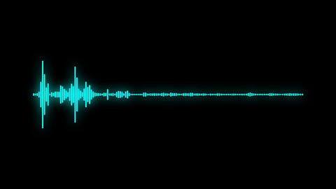 digital audio spectrum sound wave effect Animation