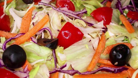 Salad vegetables salads colorful healthy vegetable vegetarian food Footage
