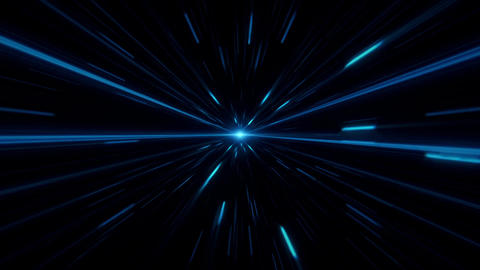 Blue Sci-Fi Space Time Tunnel VJ Loop Motion Background Animation