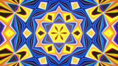 Colorful Kaleidoscope Background VJ Loop Abstract Background Stock Video Footage