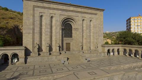 Exterior of medieval Mesrop Mashtots institute of ancient manuscripts in Armenia Live Action