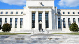Board of Governors of Federal Reserve System building, Washington DC Footage