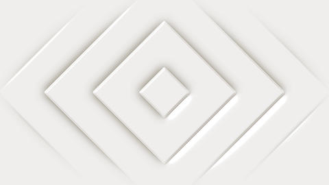 Abstract White Geometric Beveled Shapes Background Animation