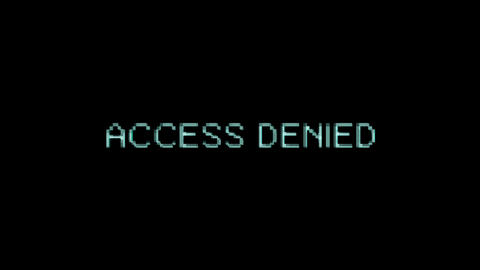 Computer Error Text Message Bad Glitch Effect Animation