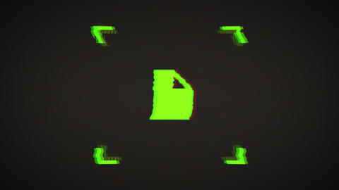 File Processing Icon Message Bad Glitch Effect Animation