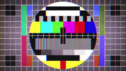 Old Tv Test Signal Sight Background Loop Animation