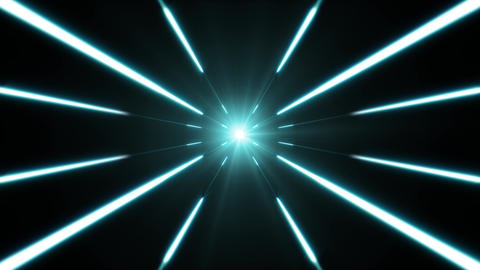 Hyperspace Background With Shining Starburst Animation
