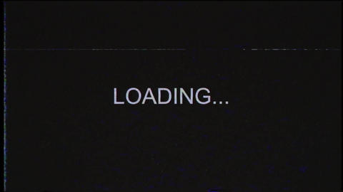 Loading Background Message On VHS Video Tape Animation
