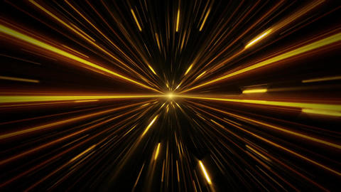 Gold Sci-Fi Space Time Tunnel VJ Loop Motion Background Animation